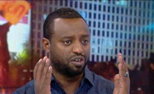 """מחאת העדה האתיופית מסלימה (צילום: מתוך """"חדשות הבוקר"""" , קשת 12)"""