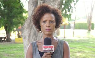 """המיילדת האתיופית שריגשה את הרשת (צילום: מתוך """"חדשות הבוקר"""" , קשת 12)"""