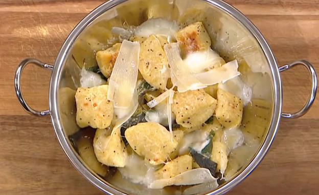 ניוקי גבינות בחמאת מרווה (צילום: מאסטר שף, שידורי קשת)