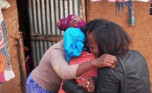 המפגש של ספי עם אחיותיה באתיופיה (צילום: החדשות)