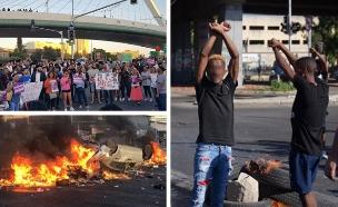 מחאת יוצאי אתיופיה (צילום: החדשות, דוברות המשטרה)