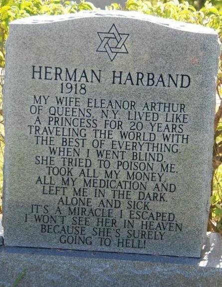 המצבה של הרמן הארבנד (צילום: imgur)