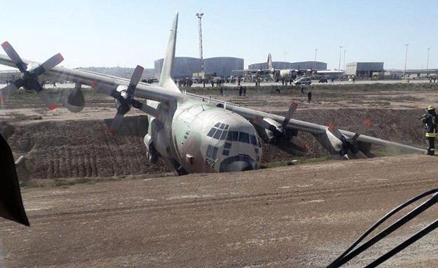 התאונה שהובילה להשבתה (צילום: עד ראייה, חדשות)