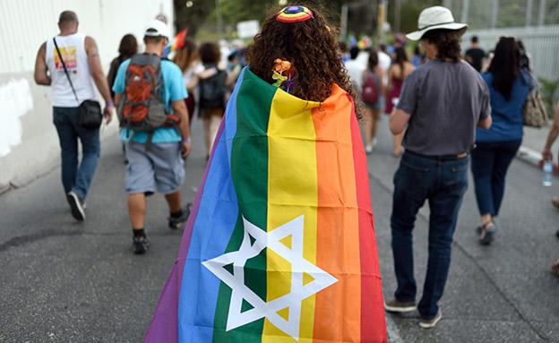 חובש כיפה במצעד הגאווה בירושלים, ארכיון (צילום: גילי יערי, פלאש 90, חדשות)