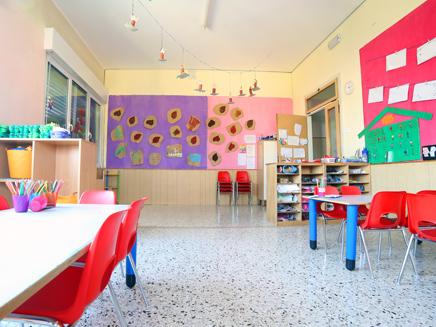גן ילדים, משחקים, כיתה, ריק,