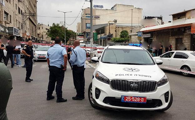 זירת הרצח בנצרת (צילום: דוברות המשטרה, חדשות)