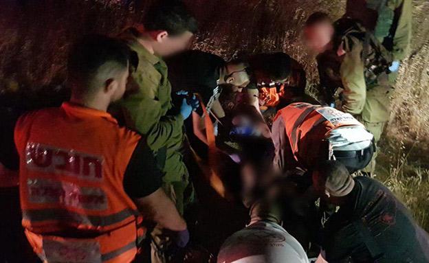 הפיגוע אמש סמוך לירושלים (צילום: דוברות איחוד והצלה, חדשות)