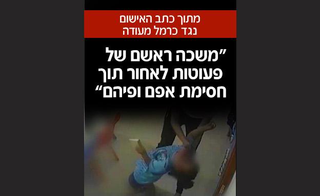 מתוך כתב האישום נגד כרמל מעודה (צילום: חדשות)