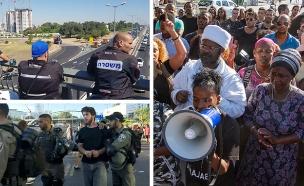 מחאת יוצאי אתיופיה, בשבוע שעבר (צילום: החדשות, פלאש 90)