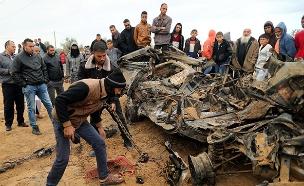 זירת ההיתקלות עם חמאס בחאן יונס (צילום: רויטרס, חדשות)