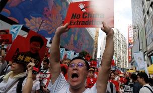 מחאת ענק בהונג קונג (צילום: רויטרס, חדשות)