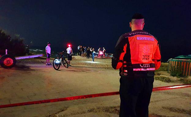זירת האירוע בבת ים (צילום: דוברות איחוד הצלה, חדשות)