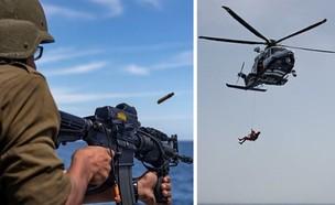 """לוחמי חיל הים בפעולה (צילום: רב""""ט רון מונק)"""