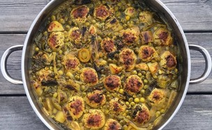 קציצות עוף עם ירקות (צילום: ארז גולקו, In My Kitchen)