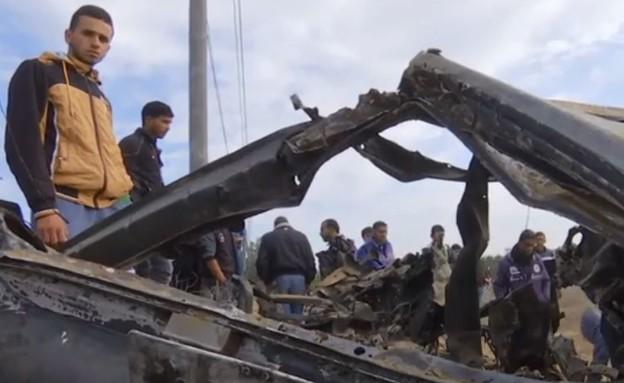 הפעולה שהשתבשה בחאן יונס (צילום: מתוך חדשות 12, קשת 12)