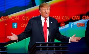 דונלד טראמפ והלוגו של CNN (צילום: רויטרס, חדשות)