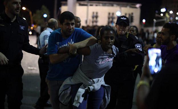 240 נעצרו במחאת יוצאי אתיופיה (צילום: יוסף מזרחי/TPS, חדשות)