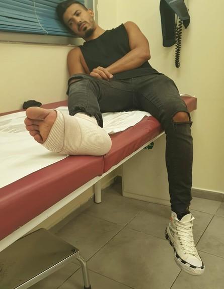 שקד קוממי נפצע בתאונת דרכים (צילום: באדיבות עופר מנחם תקשורת, יחסי ציבור)