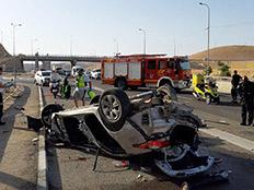 שני הרוגים בהתהפכות רכב בכביש 1