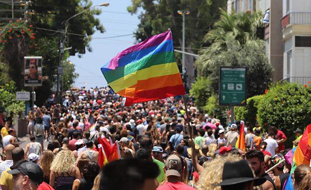 מצעד הגאווה בתל אביב (צילום: צילום: איתן אלחדז/TPS, חדשות)