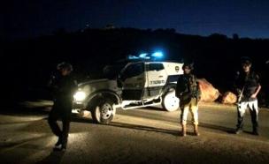 זירת התאונה בה נהרג הרב מרק (צילום: חדשות)