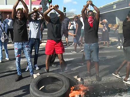 מחאת בני העדה האתיופית בקרית אתא
