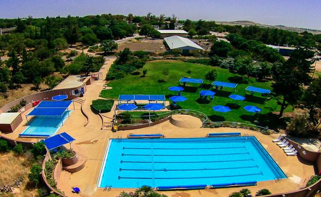 בריכת השחייה (צילום: תיירות עין זיוון)