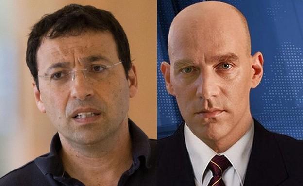 רביב דרוקר וגיא פלג (צילום: יונתן סינדל, פלאש 90)