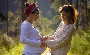 """""""זה לא היריון רגיל"""" (צילום: גלעד פרייס, חדשות)"""