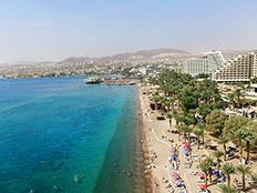 מלונות על קו החוף באילת (צילום: פלאש 90, משה שי, חדשות)