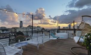 סם אנד בלונדי, גג מלון שינקין (צילום: אסף פינצוק)