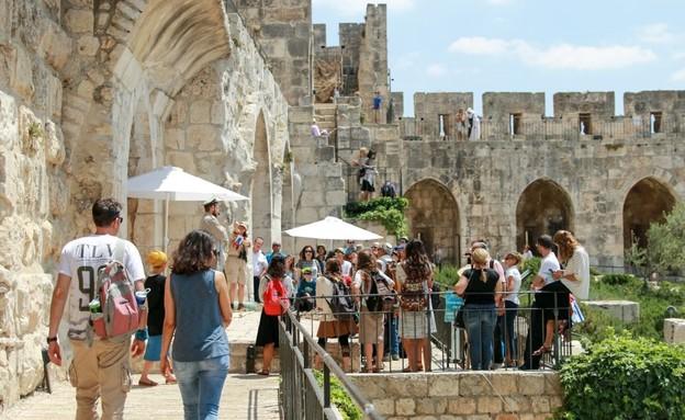 סיור חומות מוזיאון מגדל דוד (צילום: ריקי רחמן)