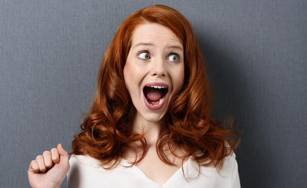 אישה צועקת (צילום: shutterstock)