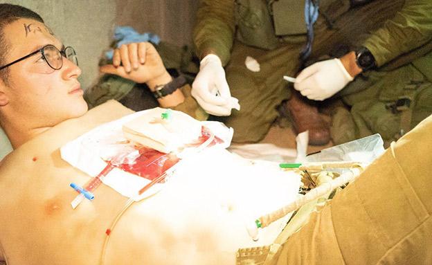 תרגיל של אירוע רב נפגעים (צילום: דובר צהל, חדשות)