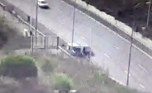 תיעוד: תאונת הפגע וברח בכביש 1 (צילום: חדשות)