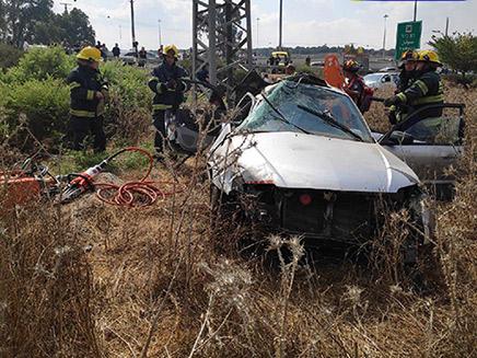 תאונת הדרכים בה נהרגה אידה בת ה-22 (צילום: דוברות כבאות והצלה - מחוז צפון, חדשות)
