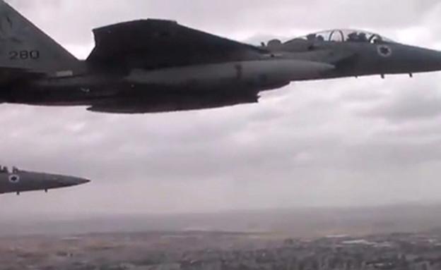 """מטוסי חיל האוויר במהלך התקיפה (צילום: דובר צה""""ל, חדשות)"""