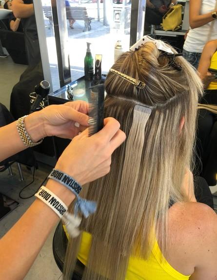 תוספות שיער smartape (צילום: צילום ביתי)