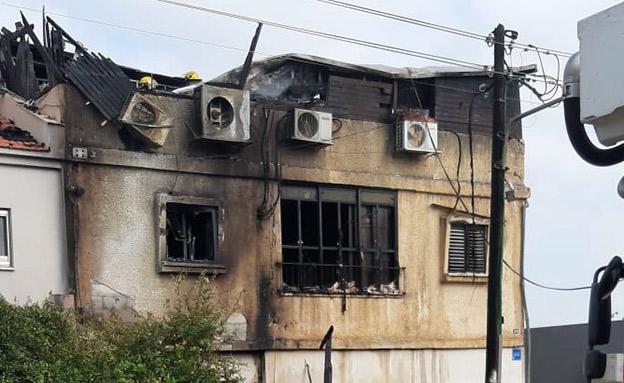 כך נראה המבנה לאחר שהאש כובתה (צילום: חדשות)