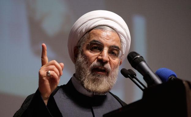 נשיא אירן חסן רוחאני (צילום: AP, חדשות)