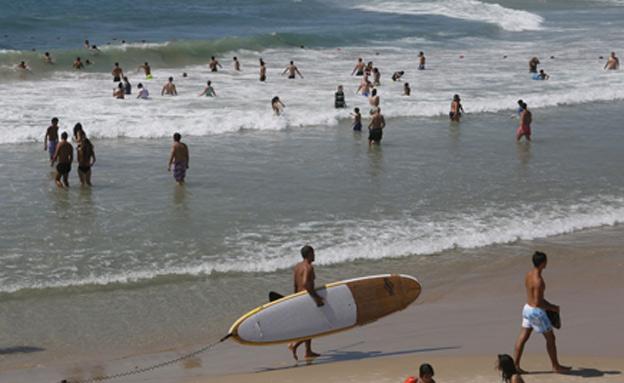 ים, חוף ים, רחצה (צילום: פלאש 90 מרים אלסטר, חדשות)