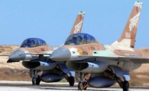 מטוסי F-16 של חיל האוויר (ארכיון) (צילום: יששכר ראוס, חדשות)