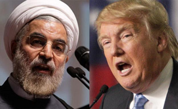 טראמפ ורוחאני (ארכיון) (צילום: רויטרס, AP, חדשות)