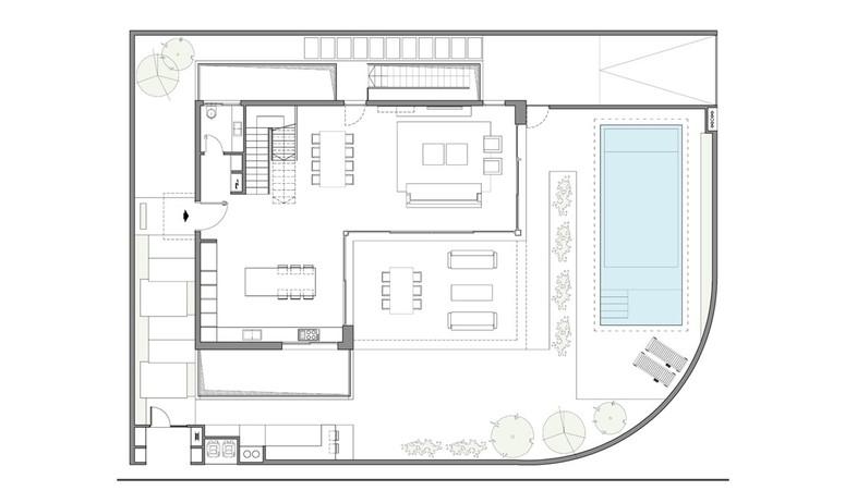 בית פרטי, עיצוב שחר רוזנפלד, תוכנית אדריכלית