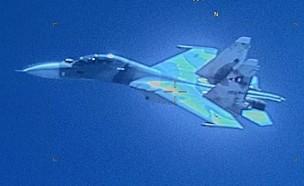 המטוס שתועד באוויר (צילום: Southcom@Twitter)