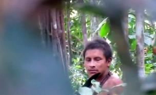 תיעוד נדיר: בן שבט צולם בברזיל (צילום: רויטרס, חדשות)