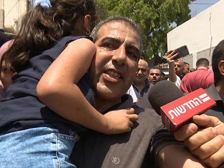 מחמוד קטוסה עם שחרורו מהמעצר