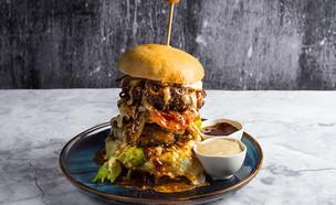 מגדל המבורגר (צילום: יעל יצחקי, אוכל טוב)