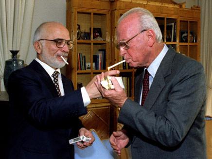 רבין עם המלך חוסיין (צילום: רויטרס, חדשות)