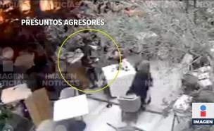 מתגנבת - ויורה: תיעוד ממצלמות האבטחה (צילום: חדשות)